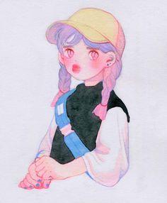 Alien Aesthetic, Aesthetic Art, Cartoon Drawings, Art Drawings, Character Illustration, Illustration Art, Art Hoe, Cool Sketches, Korean Artist