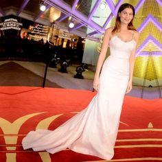 Elegant Ivory Mermaid Beaded Straps Celebrity Evening Party Gowns Golden Globe Academy Awards 2017 Oscar Red Carpet Dresses CE12