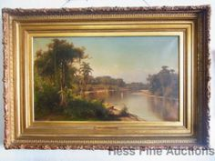 Huge Henry Ferguson South America Estate Landscape Painting Hudson River School