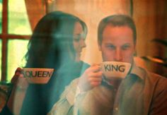 Will & Kate, i want a picture of my husband and I with cups like this!
