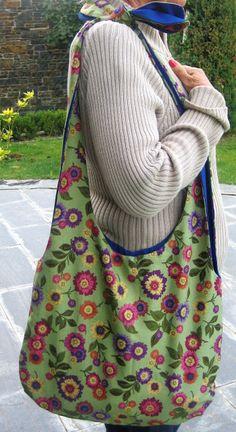 lanasifils: Bolsos de tela floreados