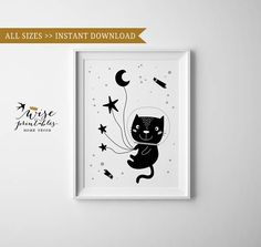 Check out this item in my Etsy shop https://www.etsy.com/listing/565705019/cat-astronaut-wall-art-print-poster