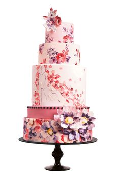 Vintage floral cake from Nevie Pie Cakes