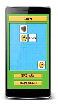 Educational matching pairs game. Learn english or german language and play game.