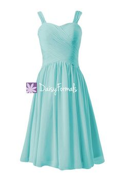 Elegant Robin Egg blue Party Dress Cocktail Dress Beach Wedding Dress (BM800)