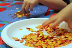 Juggling With Kids: Pumpkin Seed Autumn Handprint Tree