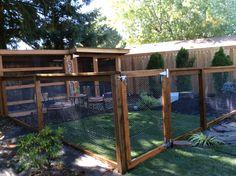 My rabbit and Guinea Pig enclosures.
