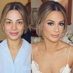 """Bridal transformation 😍👑 by Jenny using in style """"Miami"""" . - Bridal Makeup , Bridal transformation 😍👑 by Jenny using in style """"Miami"""" . Bridal transformation 😍👑 by Jenny using in style """"Miami"""" . Wedding Makeup Tips, Natural Wedding Makeup, Bridal Hair And Makeup, Wedding Hair And Makeup, Wedding Airbrush Makeup, Bridal Makeup For Brunettes, Beach Wedding Makeup, Wedding Makeup For Brown Eyes, Wedding Nails"""