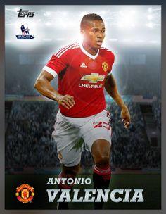 Antonio Valencia Manchester United (Barclay Premier League) Arena Insert Card 2016 Topps KICK