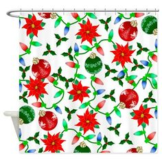 Christmas Adornments Shower Curtain on CafePress.com - perfect for the guest bath :)
