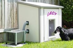 Dog house air conditioner, this would be even better if it was solar powered