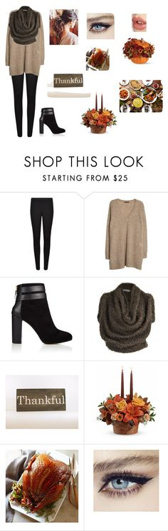 """""""Thanksgiving dinner with friends"""" by sofia200 ❤ liked on Polyvore featuring French Connection, Violeta by Mango, Coye Nokes, Yiqing Yin and Charlotte Tilbury"""