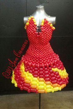 Vestido con globos