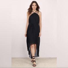 Nwt Heart Strings Black High Low Dress