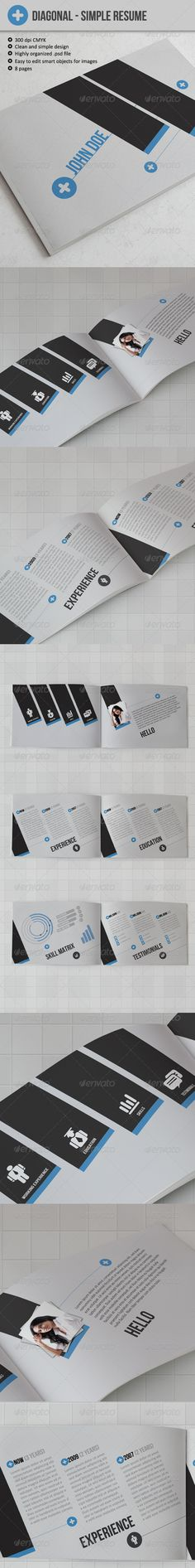 Diagonal - Resume or CV - GraphicRiver Item for Sale