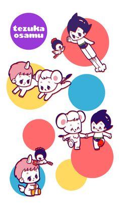 osamu tezuka cute illustration