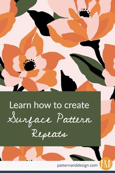 Learn how to create seamless surface pattern repeats is essential for a surface pattern designer. Learn with step by step videos how to create the most common pattern repeats in Illustrator so you can create successful seamless repeating patterns. Textile Prints, Textile Patterns, Textile Design, Fabric Design, Floral Patterns, Surface Pattern Design, Pattern Designs, Sketching Techniques, Art Techniques
