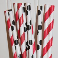 Lady Bug Party Paper Straws...♥