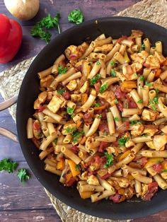 Gluten and Dairy Free Taco Chicken Pasta