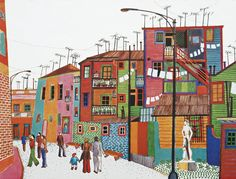 Aniko Szabo Dance Studio Design, House Illustration, Mural Wall Art, Crazy Colour, Naive Art, Countries Of The World, American Art, House Colors, Folk Art