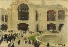 RAMON CASAS  Urban scene, Paris c. 1900   Oil with cardboard   15.9 x 21.9 cm