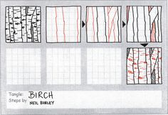 Birch - tangle pattern by perfectly4med, via Flickr
