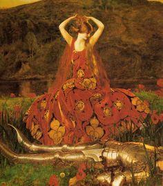 sidney harold meteyard | La Belle Dame Sans Merci (1926) Love the fabric..