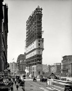 """""""One Times Square en construcción, la ciudad de Nueva York, 1903"""""""