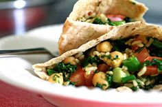 chickpea curry wrap