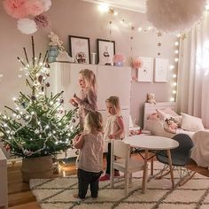 || Wish you all a lovely pre Christmas evening with one of my favorite pics from December✨ My three lovely daughters and their Christmas tree That's what Christmas is all about - to love and care for each other