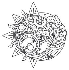 ~ CLIP ART GALORE ~ Celestial design