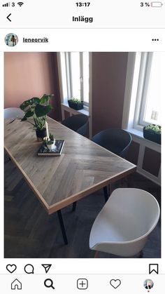 Dinning Table Wood, Wood Table Design, Dining Tables, Dining Room, Wood Tables, Dining Area, Chevron Kitchen, Chevron Table, Diy Coffee Table