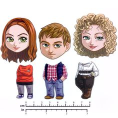 Mix and Match Magnets: Amy, Rory, River (Doctor Who New Companions Set 2) - $12