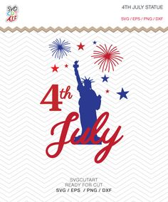 Statue Of Liberty 4th July independence day Patriotic Monogram Frames DXF SVG PNG eps for Cricut Design, Silhouette studio, Makes the Cut by SvgCutArt on Etsy