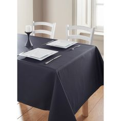 """Sleek and stylish tablecloth - ideal for table settings of 6.  Machine washable; grease resistant.  100% polyester  Dimensions: 132 x 178cm / 52 x 70"""" (Approx.)  #dining #kitchen #homedecor #home #inspo #inspiration #cloth #tableware"""