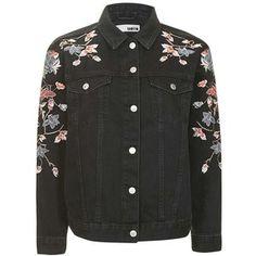 Women's Topshop Embroidered Denim Jacket