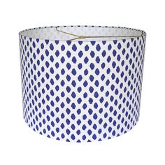 Lampshade | Sahara Ikat Dots by Lacefield Designs in Midnight | Made to Order (possible way to bring blue into the living room)