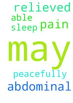 May B be relieved from any abdominal pain, and may - May B be relieved from any abdominal pain, and may S be able to sleep peacefully. Posted at: https://prayerrequest.com/t/ulC #pray #prayer #request #prayerrequest