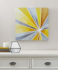 Intelligent Design Ray of Sunshine Gel-Coated Canvas Print - Yellow