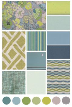 Cottage Inspired Decorating: an array of blues, greens, and grey