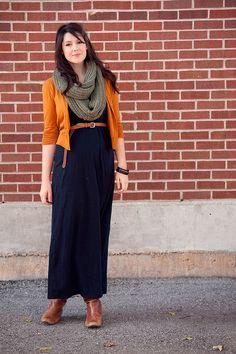 How to translate a maxi dress/skirt into fall