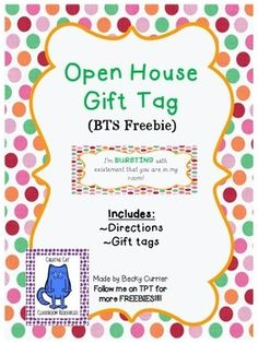 Perfect for the students desk for Open House! https://www.teacherspayteachers.com/Store/Creative-Cat-Classroom-Resources