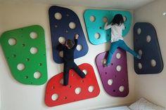 DIY climbing wall panel,indoor jungle gym,kids climbing wall,home climbing Indoor Climbing Wall, Kids Climbing, Rock Climbing, Indoor Jungle Gym, Kids Indoor Playground, Kids Indoor Gym, Kids Play Spaces, Play Areas, Cool Kids Bedrooms