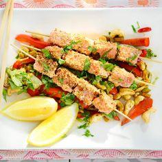 Sydänmerkki/ IS Ruokala Pasta Salad, Fish, Meat, Ethnic Recipes, Crab Pasta Salad, Pisces