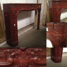 cheminée louis xv en marbre rouge griotte xix siècle