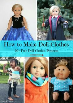 Taking advantage of free sewing patterns that are sure to put a smile on your little one& face is always a blast, especially with the help of our new collection, How to Make Doll Clothes: Free Doll Clothes Patterns. Doll Sewing Patterns, Doll Dress Patterns, Clothing Patterns, Free Doll Clothes Patterns, American Girl Crafts, American Doll Clothes, American Girls, Sewing Doll Clothes, Sewing Dolls
