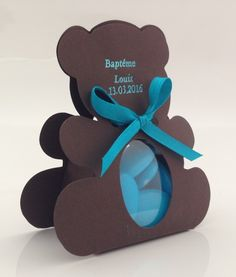 Contenant dragées ourson chocolat  (2)