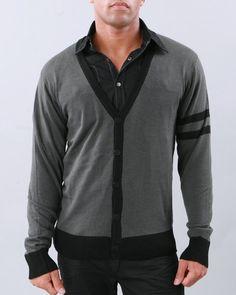 Southpole Men Solid Cardigan - Sweatshirts & Sweaters $26.46