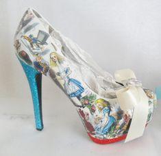 Alice In Wonderland Decoupage Custom by TheElusiveRabbit on Etsy