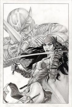 Dark Reign: Elektra #3 - Hawkeye by Lee Bermejo *